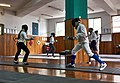 Fencing in Greece. The training at Athenaikos Fencing Club with fencers and friends from other clubs.jpg