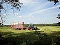 Fendt Farmer tractor, Taarup loader wagon, near Soest, NL.jpg
