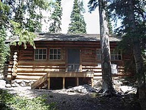 Fern Lake Patrol Cabin - Front of the cabin