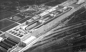 Lingotto - View of Fiat Lingotto Factory in 1928
