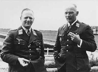 Erhard Milch - Milch with Wolfram von Richthofen in 1940