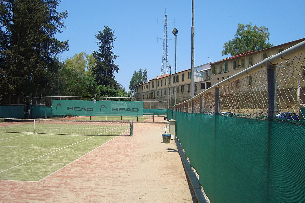 Field club tennis courts in central old part of Nicosia Republic of Cyprus