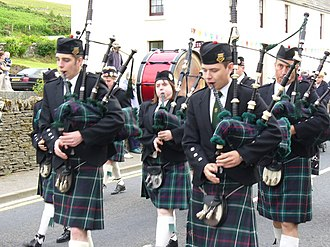 Finstown - Finstown Gala with pipe band. Credit: Colin Smith