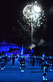 Fireworks explode behind Edinburgh Castle as multinational musicians and dancers perform a tribute honoring Queen Elizabeth II's Diamond Jubilee year during the Royal Edinburgh Military Tattoo 120803-N-VT117-249.jpg