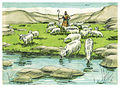First Book of Samuel Chapter 17-13 (Bible Illustrations by Sweet Media).jpg