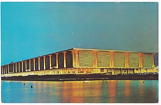 McCormick Place - The original McCormick Place, completed in 1960, seen here in 1966 from Lake Michigan.