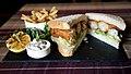 Fish finger sandwich at The Fox Inn public house at Finchingfield, Essex, England.jpg
