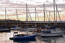 Fisherrow Harbour i Musselburgh