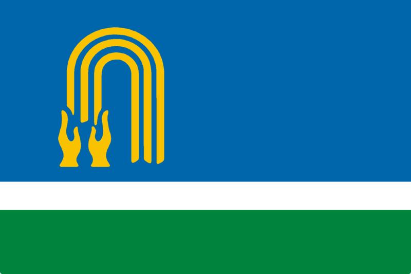 Of Oktyabrsky, Bashkortostan, Russia ru Флаг городского округа город Окт