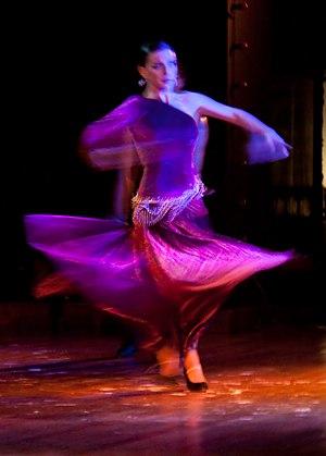 Turn (dance and gymnastics) - A turning Flamenco dancer