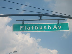Flatbush Avenue - Flatbush Avenue sign near Brooklyn Botanic Garden