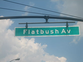 Flatbush Avenue - Flatbush Avenue sign near Brooklyn Botanic Garden