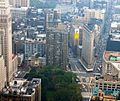Flatiron building from empire state building september 2004 crop.jpg