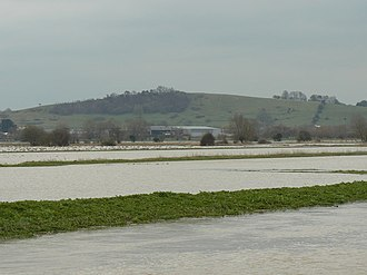 River Brue - Flooded fields near Glastonbury in 2008