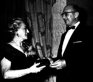 Florence E. Wall - Receiving the Society of Cosmetic Chemists Medal, 1956