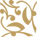 Flower Closed Ornament Gold Up Left.png