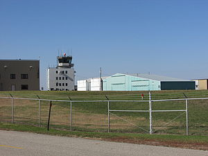 Flying Cloud Airport - Control tower at Flying Cloud Airport.