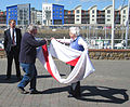 Folding the Jersey flag 2011 2.jpg