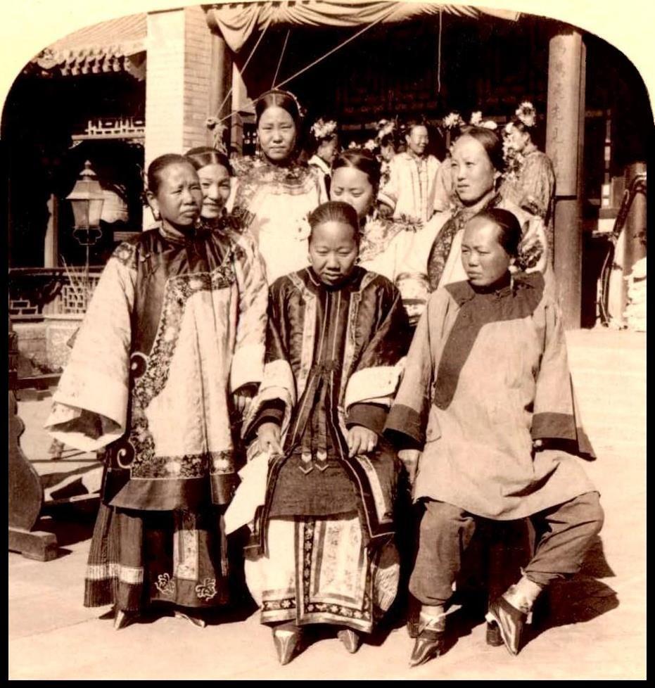 Foot binding- wealthy Chinese women