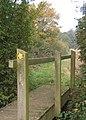 Footbridge near path junction. - geograph.org.uk - 596119.jpg