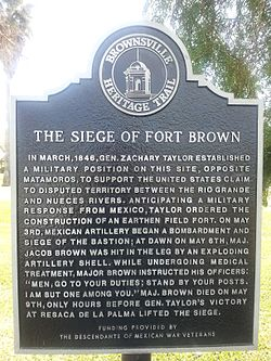 Fort brown texas historical marker siege
