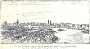 Fort DeRussy (Louisiana) - A drawing of Fort DeRussy sometime after its capture