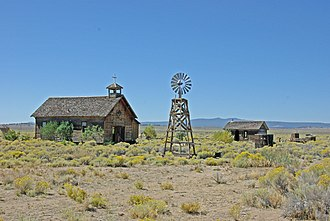 Fort Rock Valley Historical Homestead Museum - St. Roses church in the Fort Rock Valley