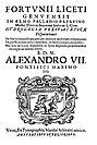 Fortunio Liceti – Fortunii Liceti ... Hydrologiae peripateticae dis, 1655 - BEIC 122664.jpg