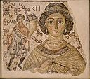 Fragment of a Floor Mosaic with a Personification of Ktisis MET DT112.jpg