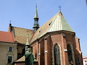 Church of St. Francis of Assisi, Kraków - St. Francis of Assisi, view from All Saints Square