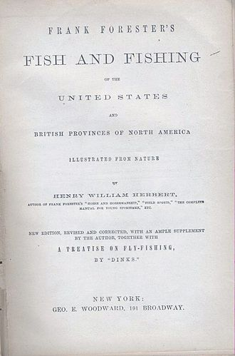 Henry William Herbert - Title Page of Frank Forester's Fish and Fishing of The United States (1859)