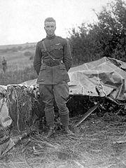 Frank Luke and German observation balloon
