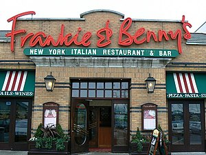 Frankie & Benny's - Typical entrance to a Frankie and Benny's restaurant, in Swindon