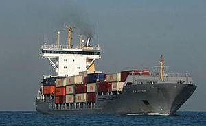 """האונייה """"Francop"""" שנתפסה בים התיכון נושאת אמצעי לחימה עבור מחבלים, 3 נובמבר 2009."""