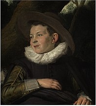 Fragment of a young boy