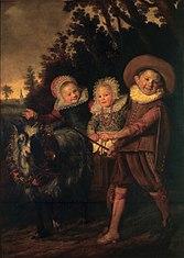 Groupe de trois enfants  (fragment)
