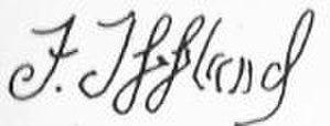 Franz Iffland - Image: Franz Iffland signature