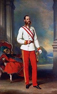 Franz Joseph I. in jungen Jahren. Gemälde von Franz Xaver Winterhalter