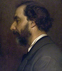 portrait of a dark bearded middle-aged man