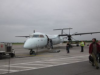 Fredericton International Airport - Air Canada Express Dash 8 Q400 arriving from Toronto-Pearson