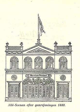 Betty Nansen Teatret - Frederiksberg Entertainment Theatre as it appeared before the rebuilding in 1888