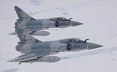 French Mirage 2000s during a Baltic Air Policing deployment in 2010.
