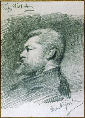 Fritz Stoltenberg - Oscar Björck: Fritz Stoltenberg, sketched in 1884