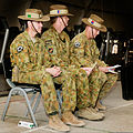 From left, Australian Army Col. Simon Stuart, the outgoing commander of Combined Team Uruzgan; Maj. Gen. Gus McLachlan, the deputy chief of staff for plans of the International Security Assistance Force Joint 130807-O-MD709-050-AU.jpg