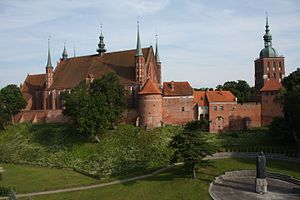 Warmian-Masurian Voivodeship - Frombork, recognisable for its brick-gothic fortified cathedral