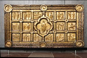 Antependium - Danish Romanesque gold antependium, once set with gems, c. 1200-1225.