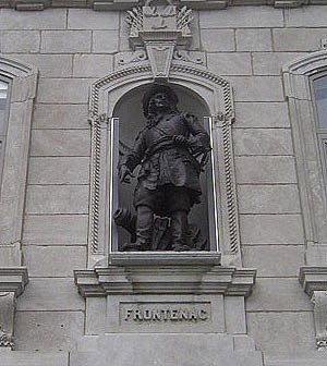 Louis de Buade de Frontenac - Statue of Frontenac at the National Assembly of Quebec (Assemblée nationale du Québec)