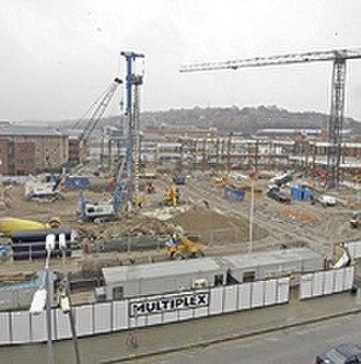 Eden, High Wycombe - Eden Centre under construction (3 March 2006)