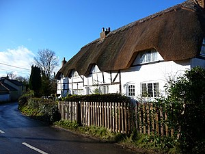 Fyfield, Hampshire - Image: Fyfield Thatched Cottage geograph.org.uk 1136297