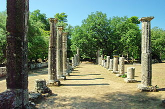 Ancient Olympic Games - The palaestra of Olympia, a place devoted to the training of wrestlers and other athletes